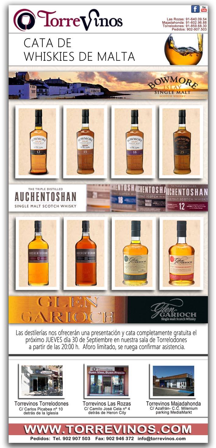 Cata de Whiskies en Torrevinos