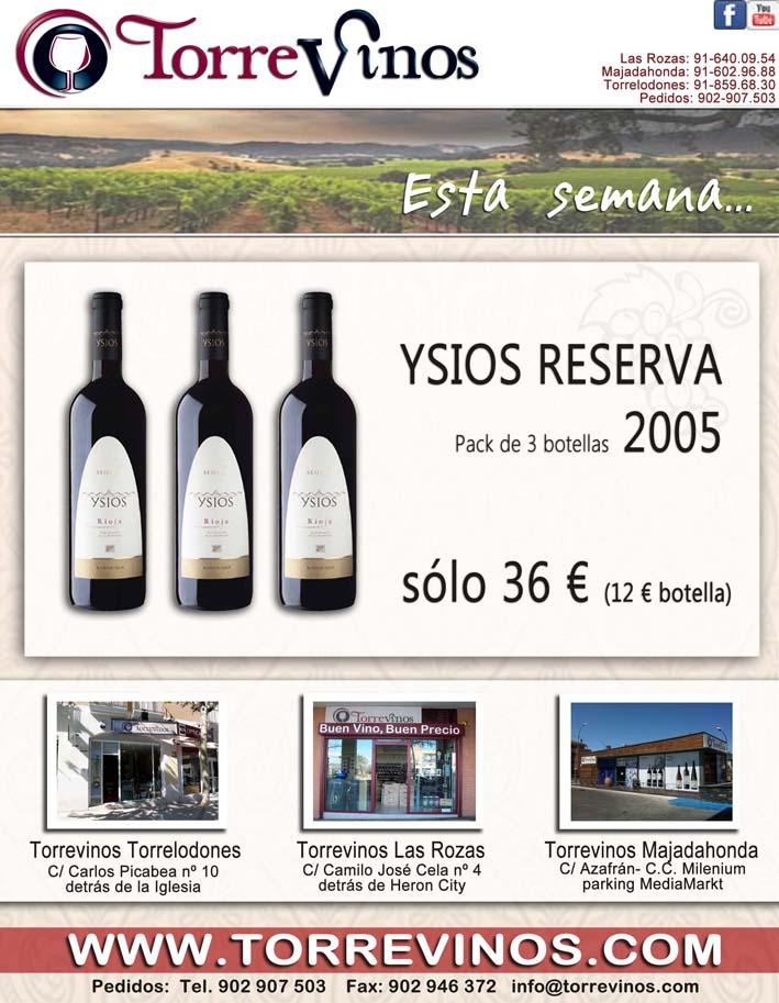 Ysios Reserva en oferta en Torrevinos