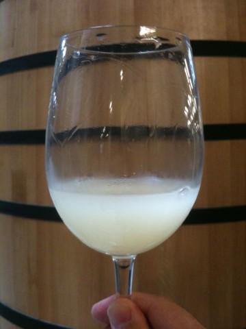Verdejo en plena fermentación